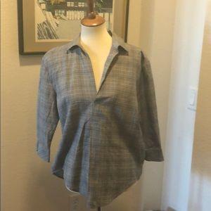 NWT. Zara basics 3/4 sleeve blouse
